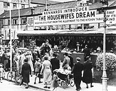 ´Crowds of women shoppers at the new barter market. The age-old system of obtaining goods by barter was revived at Croydon when Sir Herbert Williams, ...