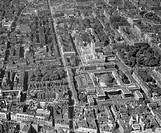 Aerial view of the British Museum and Bloomsbury, London, August 1959.