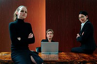 Businesswomen in boardroom