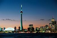 Skydome, CN Tower, skyline. Toronto. Ontario, Canada