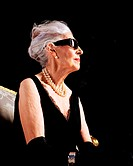 Profile of glamourous senior woman (thumbnail)