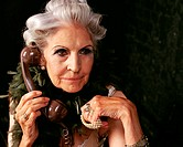 Glamorous senior woman on the telephone