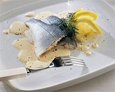 Sea bass with zabaglione