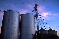 Grain storage bins, USA