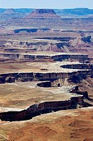 Canyons eroded in the Canyonlands. Utah, USA