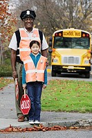 Portrait of school crossing guards