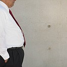 Belly of businessman