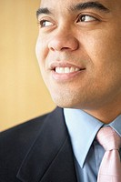 Close up of businessman smiling