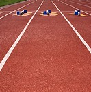 Perspective of parallel lines on track lanes