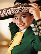 Young woman in sombrero