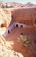 Matmata, Höhlenwohnungen/ Übersicht