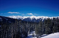 White Cloud Mountain Range Sun Valley Idaho USA