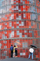 Agbar Tower by architect Jean Nouvel, Barcelona. Catalonia, Spain