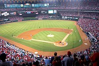 One of the last St. Louis Cardinals baseball home games in the old Busch stadium. USA