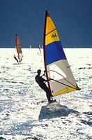 wind surf, torbole, italy