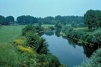 serio river, montodine, italy