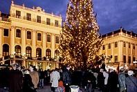schonbrunn christmas market, vienna, austria