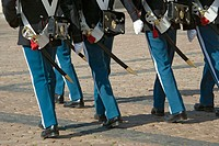 Guards at Amalienborg Palace, Copenhagen, Denmark (thumbnail)