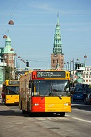 Bus on Torvegade, Christianshavn, Copenhagen, Denmark