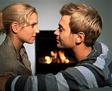 Couple by a fire (thumbnail)