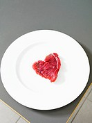Steak in the shape of a heart
