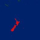 Highlighted satellite image of New Zealand