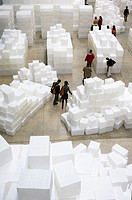 Embankment, by Rachel Whiteread, The Unilever Series, Turbine Hall, Tate Modern, London. England. UK.