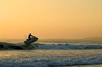 Jet ski on the littoral