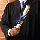 Man Holding a Diploma
