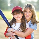 Little League Mom with Daughter