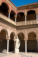 Casa de Pilatos courtyard. Sevilla. Andalucia. Spain