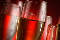Close-up of champagne in champagne flutes (thumbnail)