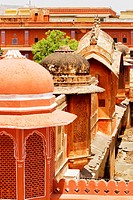 High section view of domes of a palace, City Palace, Jaipur, Rajasthan, India