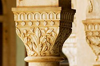 Close-up of a pillar, Government Central Museum, Jaipur, Rajasthan, India