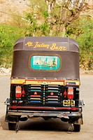Rear view of a rickshaw, Jaipur, Rajasthan, India
