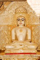 Statue of a religious figure in a temple, Jaisalmer, Rajasthan, India