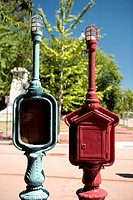 Close-up of street lampposts, Washington DC, USA