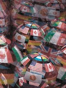International Flags on Globes