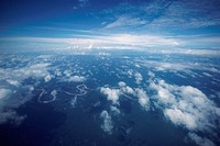 Aerial view of scattered clouds