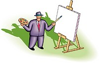 Businessman Painting Picture