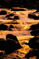 Cascading water with boulders