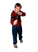 Boy Holding a Slingshot
