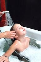 Rinsing Hair