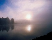 Misty Lake, Yellowstone Nat Park, Wyoming, USA