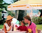 Family Sharing an Ice Cream Sundae