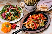 Chicken Fajitas and Salad