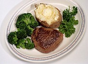 Steak, Broccoli and a Baked Potato