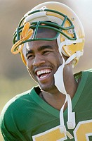 Football Player Smiling