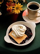 Blackberry Cobbler and Coffee
