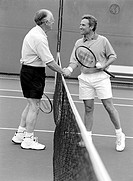 Tennis Players Shaking Hands at the Net